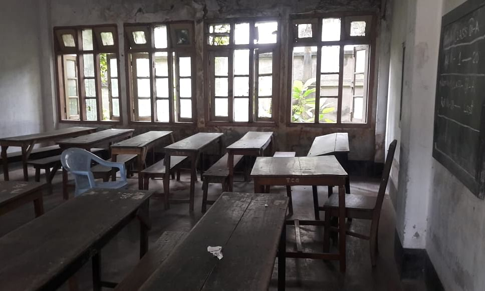 No attendance was registered at historic TC Government HS School in Guwahati on Monday
