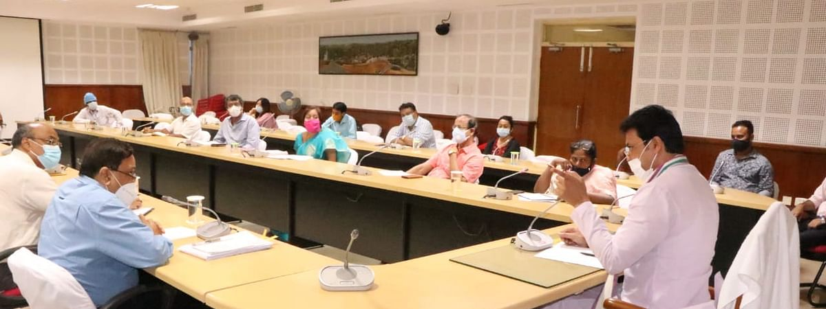 Chief Minister Biplab Kumar Deb reviews holds meeting with representatives of the private hospitals in Agartala