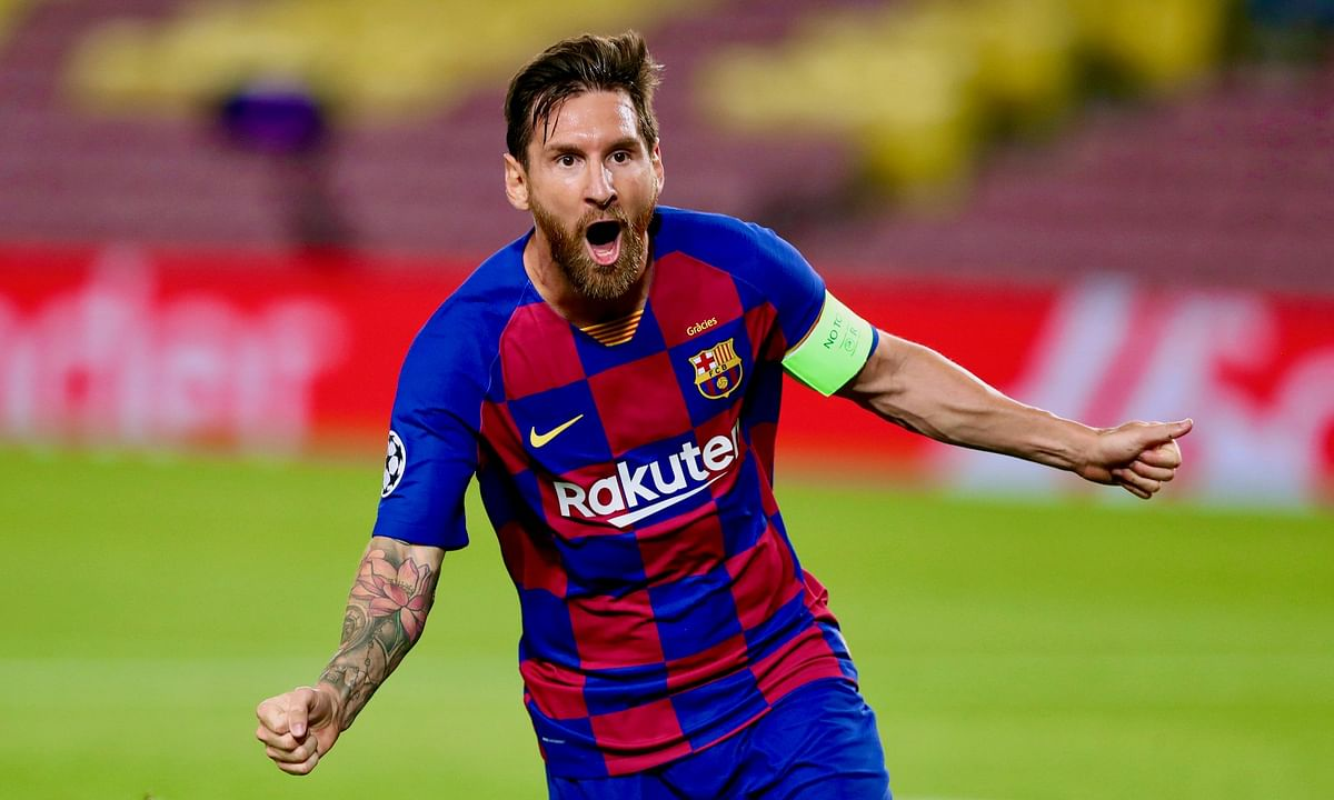 Messi failed to report for the team's COVID testing at Barcelona's training complex on Sunday