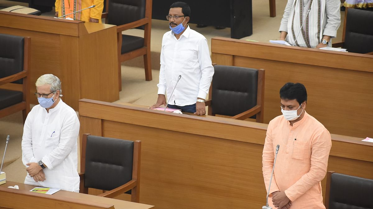 Tripura legislative assembly passed 10 bills including six ordinance bills during the one-day monsoon session with thumping votes on Monday