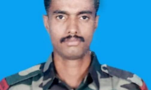 Naik Aneesh Thomas was martyred in a ceasefire violation along LoC in Sunderbani Sector on Tuesday