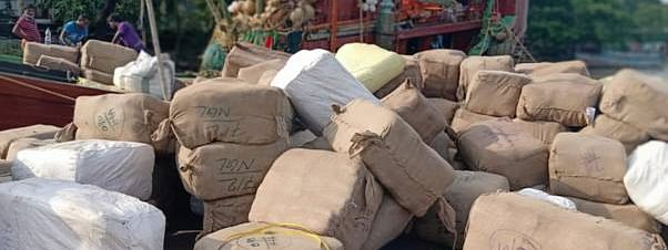 This is one of the biggest seizure in the recent past, involving the smuggling of export goods to Bangladesh