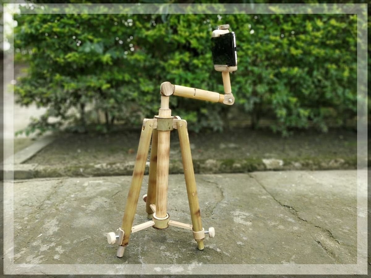 Learn to make a bamboo mobile tripod from this innovative Manipuri craftsman