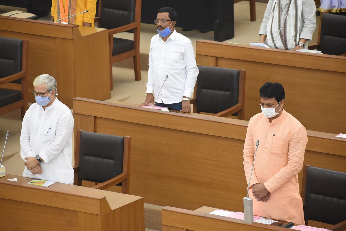 Chief Minisyter Biplab Kumar Deb during one-day monsoon assembly session