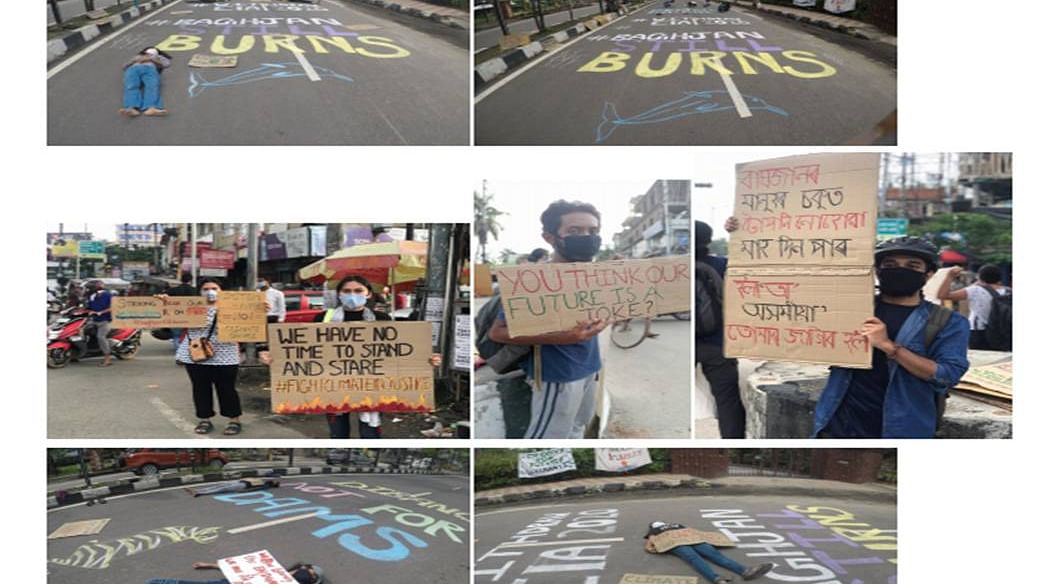 Assam: Guwahati youths take to streets on 6th Global Climate Strike