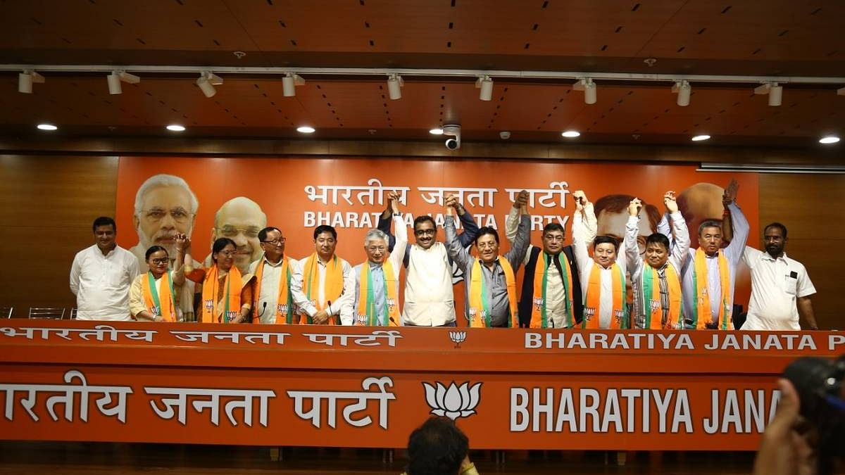 Sikkim BJP formally makes alliance with ruling Sikkim Krantikari Morcha
