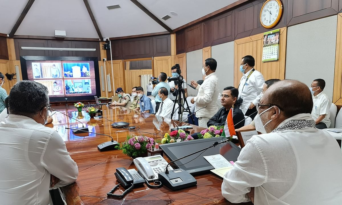 CM N Biren Singh laid foundation stones for 46 projects via video conference on Friday