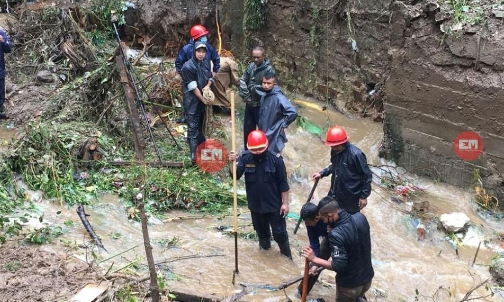 Teams from Fire & Emergency Services, SDRF on the lookout for 3 more bodies at Lower Lumparing, Shillong