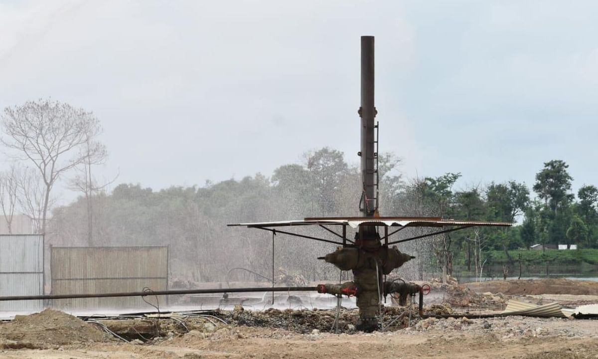 Baghjan blowout well 5 after gas diversion was carried out successfully