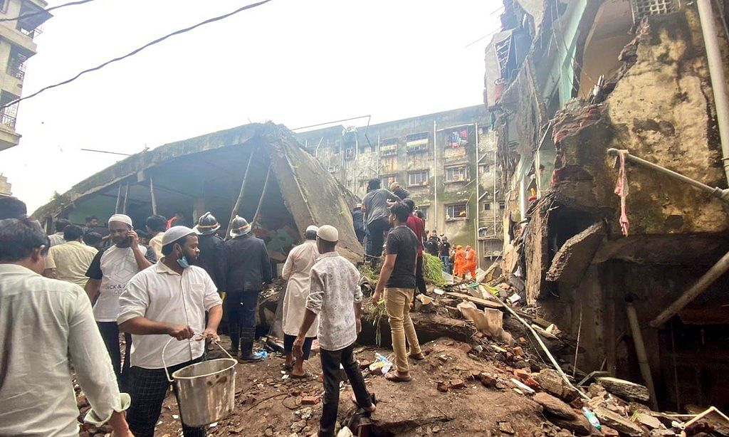 Building collapse site at Bhiwandi