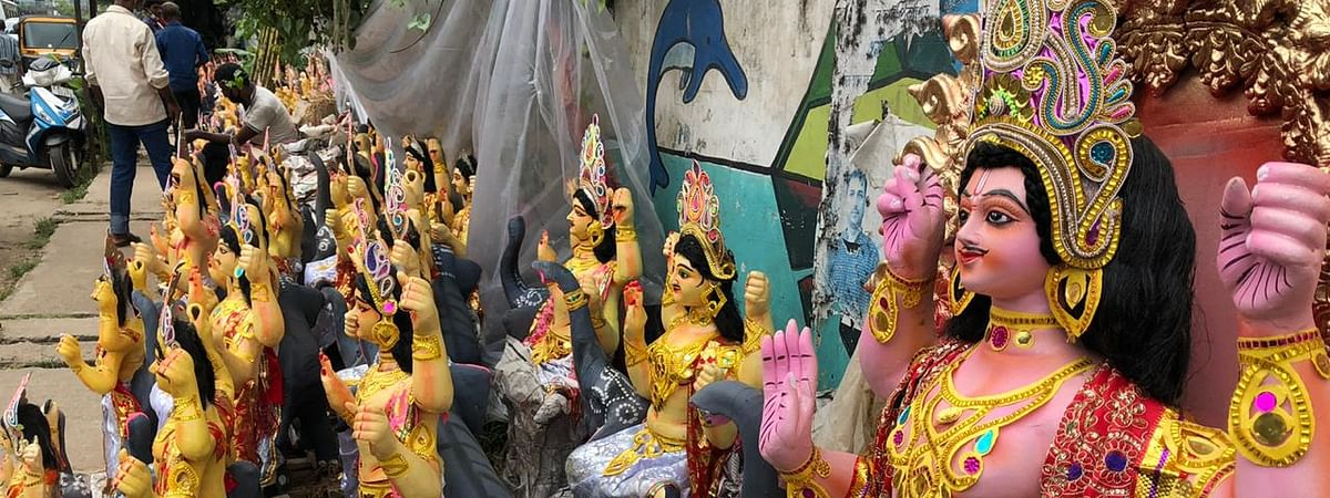 The COVID-19 pandemic has hit the livelihoods of idol makers of Assam very hard as they are looking at deep losses with Vishwakarma Puja just round the corner