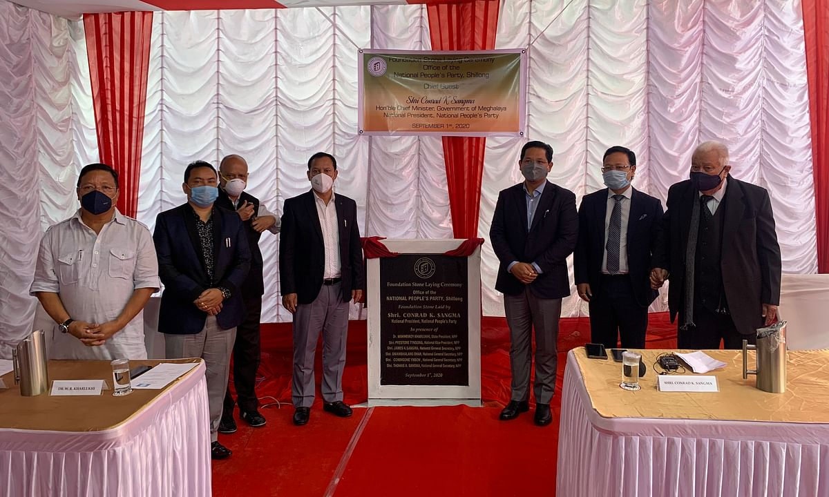 Foundation laid for the NPP office in Shillong