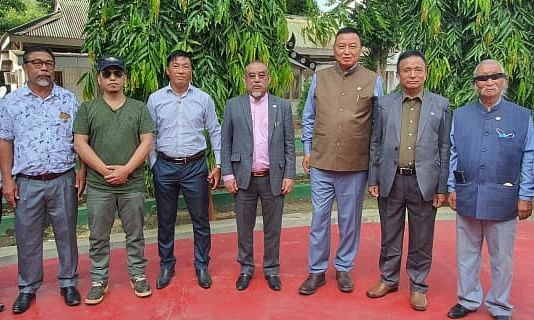 WC, NNPG leaders after a meeting with Interlocutor for Naga Peace talks on Thursday