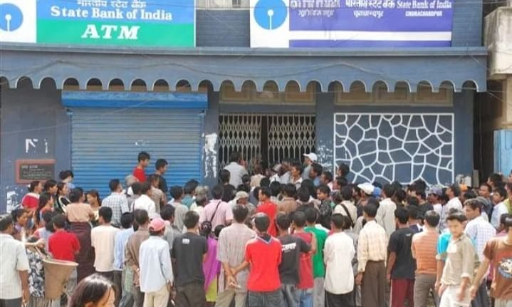 The robbery incident happened at SBI branch office, Tiddim road in Churachandpur on Friday morning