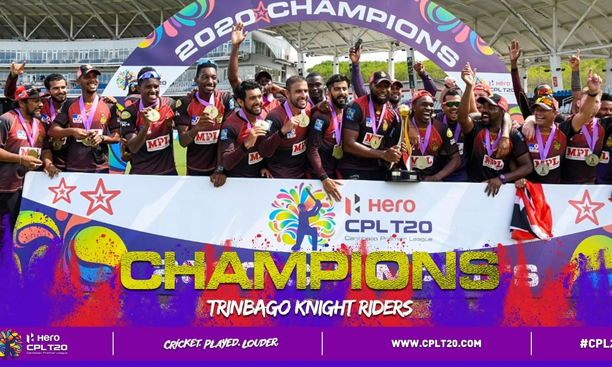Trinbago Knight Riders win the Caribbean Premier League for the fourth time, the highest by any team