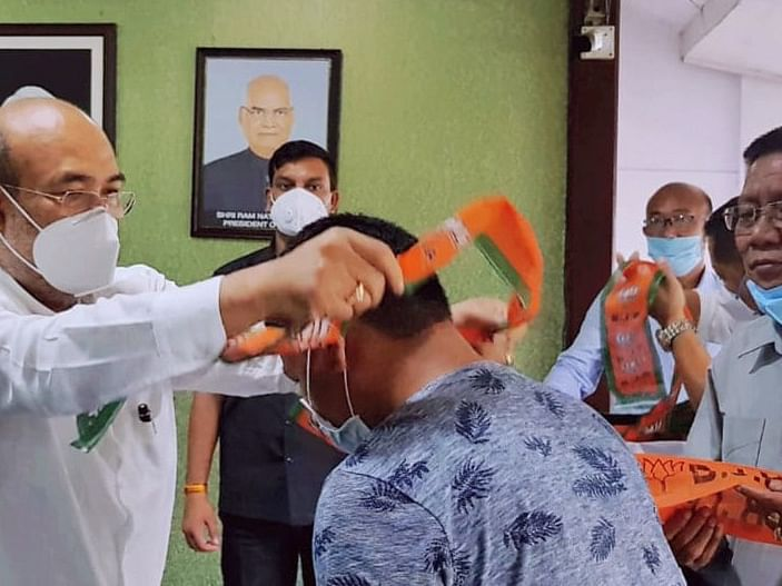 Manipur: 28 Congress party members join BJP