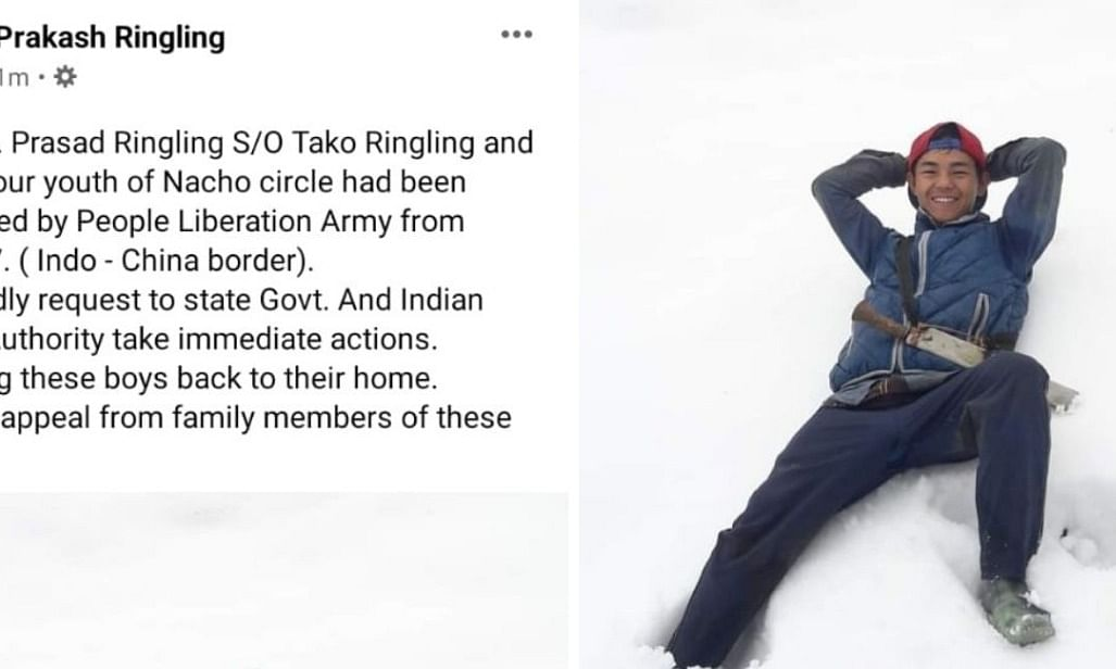 Facebook post from Prakash Ringling's claiming that his brother has been abducted