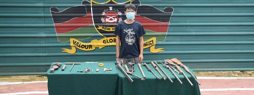 The arrested individual has been identified as Mang Suangleng from Churachandpur