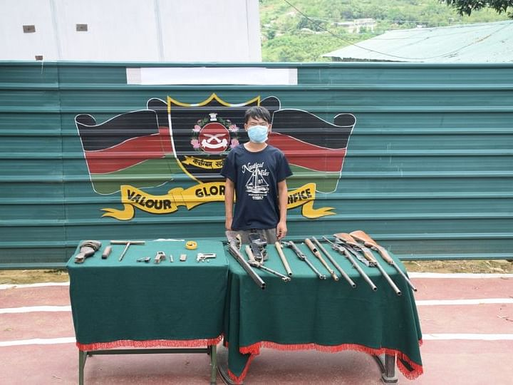 Manipur: Arms manufacturing unit busted, 1 arrested in Churachandpur