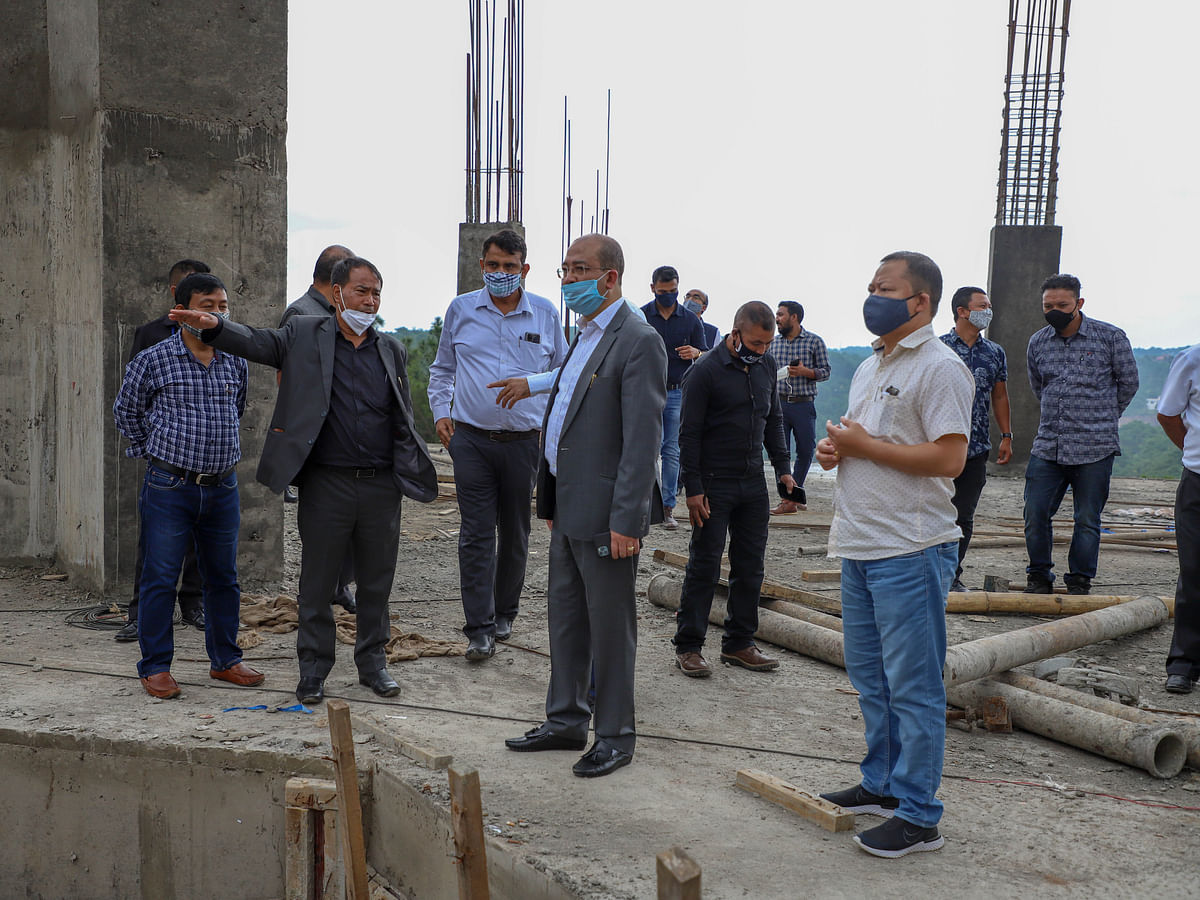 Meghalaya Speaker inspects construction site of new assembly building