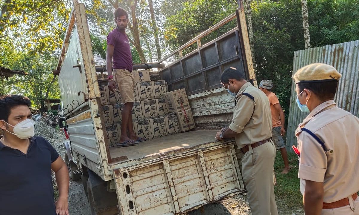 Almost 200 plus cartons of the illegally liquor- IMFL were seized during the operation