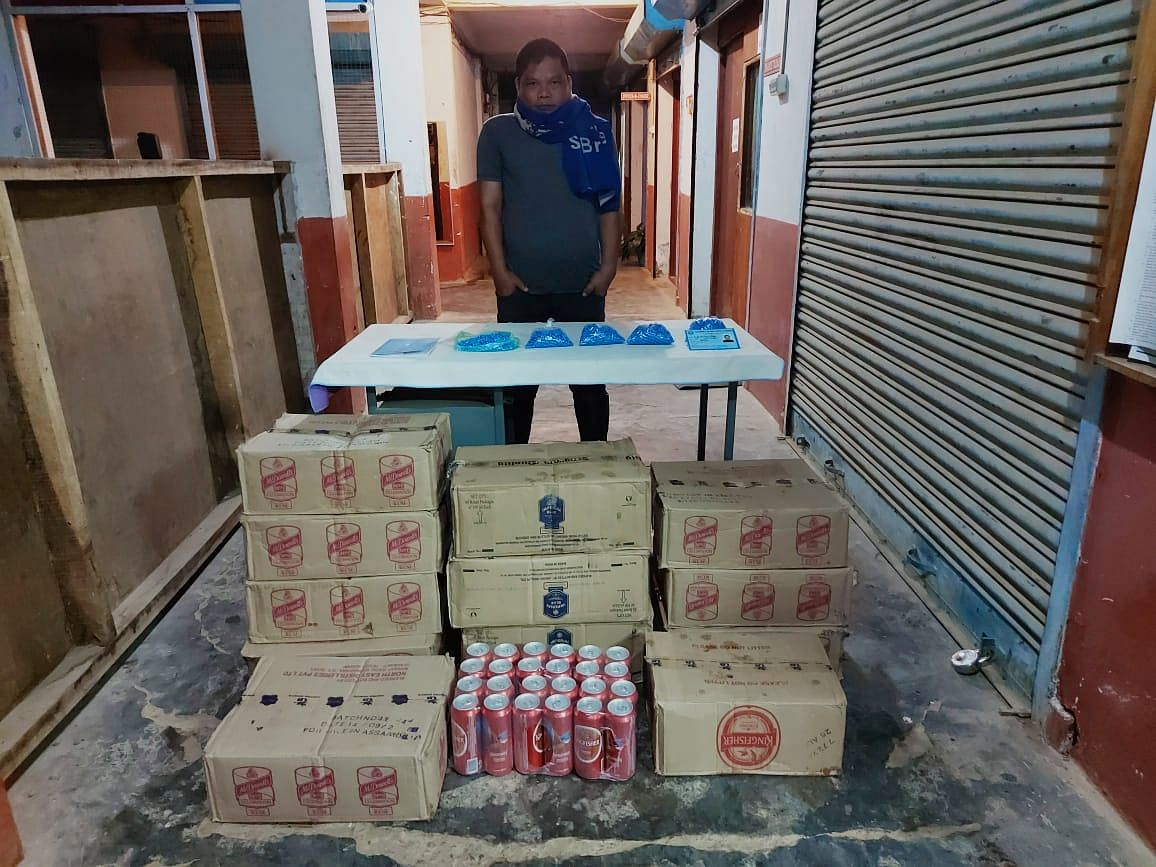 The arrested person along with the recovered items were handed to Chumoukedima Police Station in Dimapur for further investigation