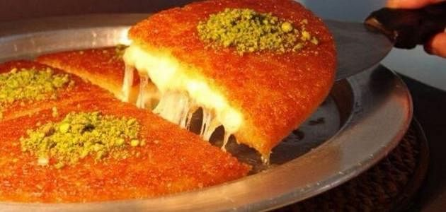 Kunafaa is one of the most famous desserts in Palestine.