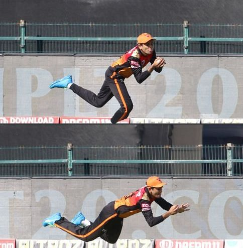 Priyam Garg took two excellent catches to remove well-set Shubhman Gill and Nitish Rana in back-to-back overs