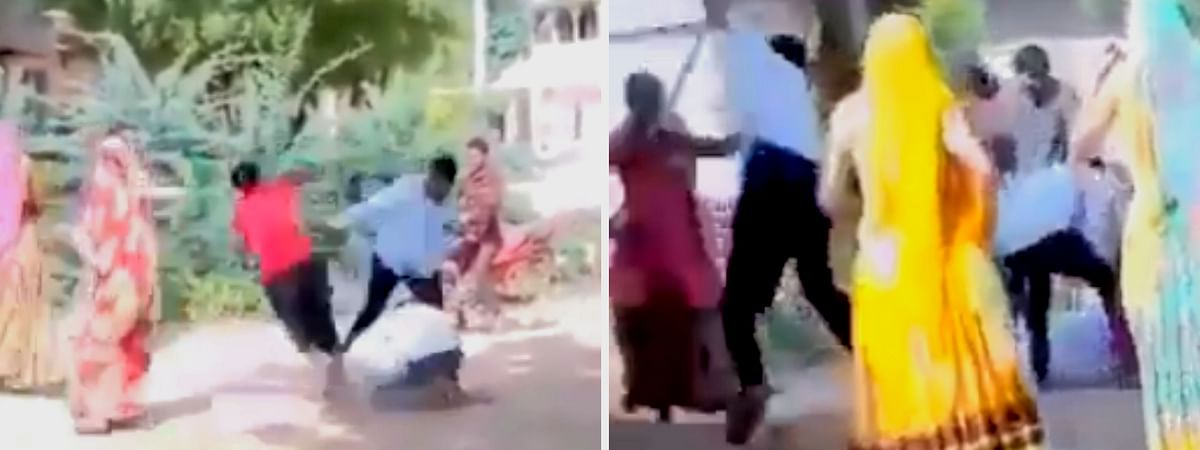 The police did not arrest the assailants and instead booked the victim's family for assault