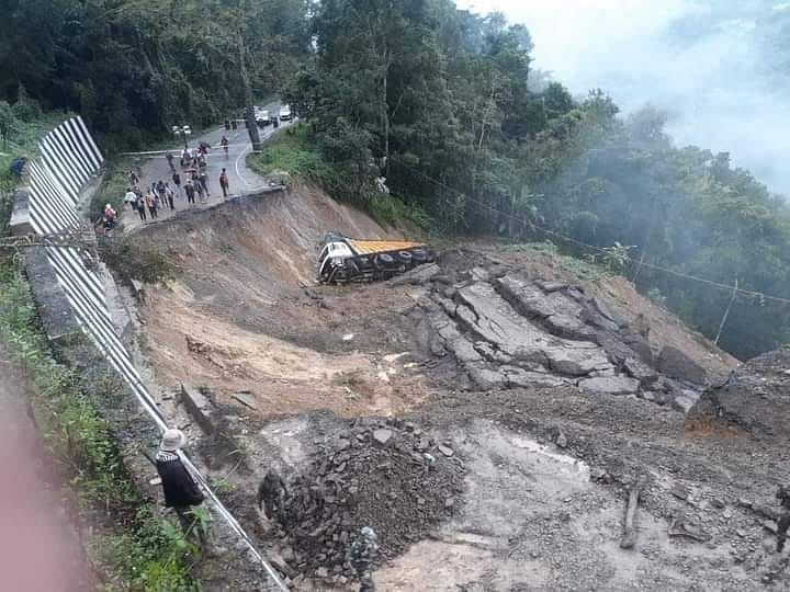Manipur: Landslide creates havoc along National Highway 2 , no casualty reported