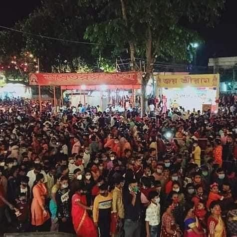 Tripura dist admin asks organizers to shut down puja pandal for violating COVID-19 norms