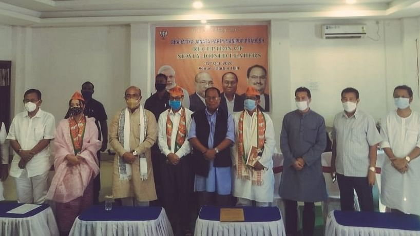 Manipur: Former Cong leaders O Nabakishore, N Mangi, several others join BJP