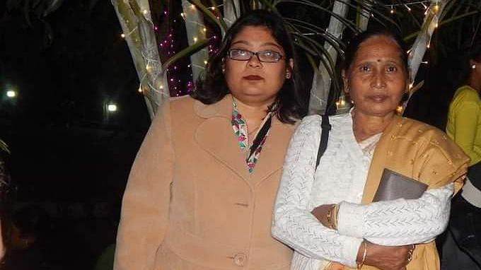 Upasana (on the left) with her mother