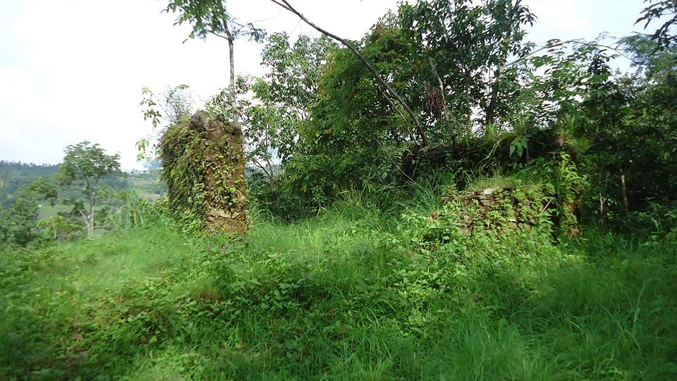 Plot of land where late Pokhrel used to live