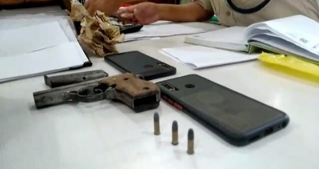 Police search operations revealed pistol .22, three round bullets, and fake currency notes