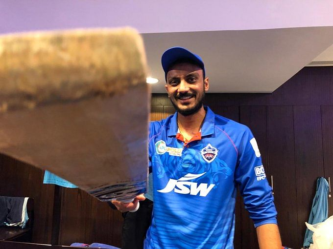 Axar Patel smashed 21 runs in just five deliveries in the last over, eventually taking Delhi to a victory