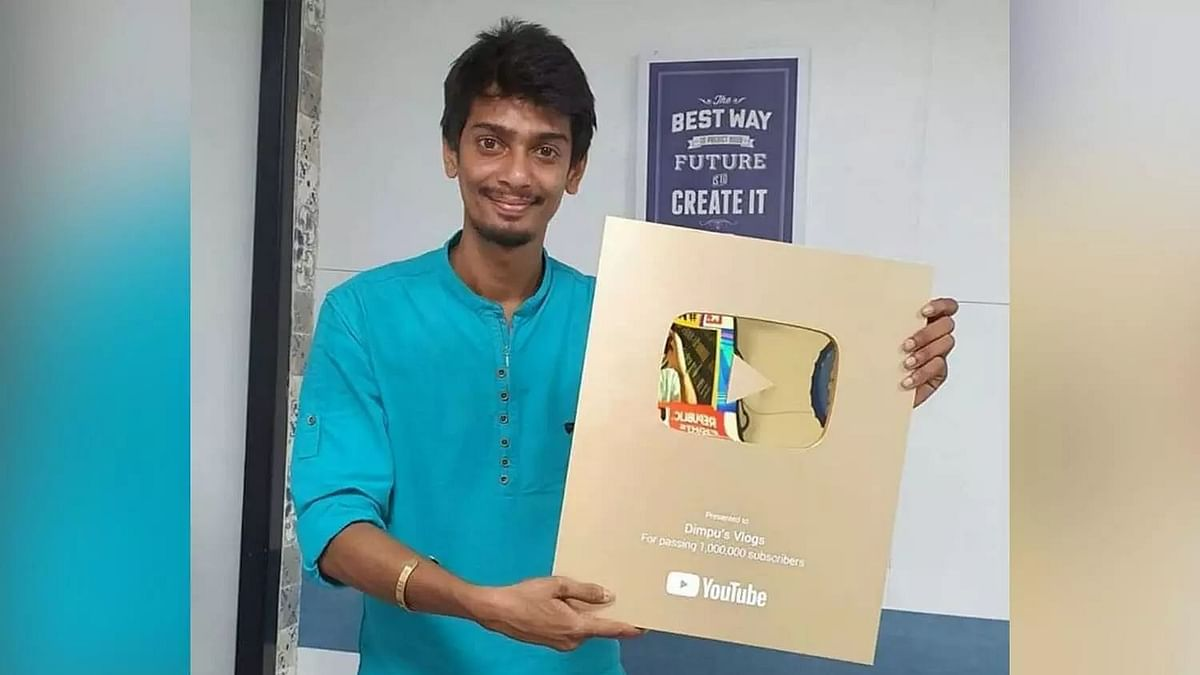 After Bhargab, Dimpu gets Gold Play Button for gaining 1 million subs on YouTube
