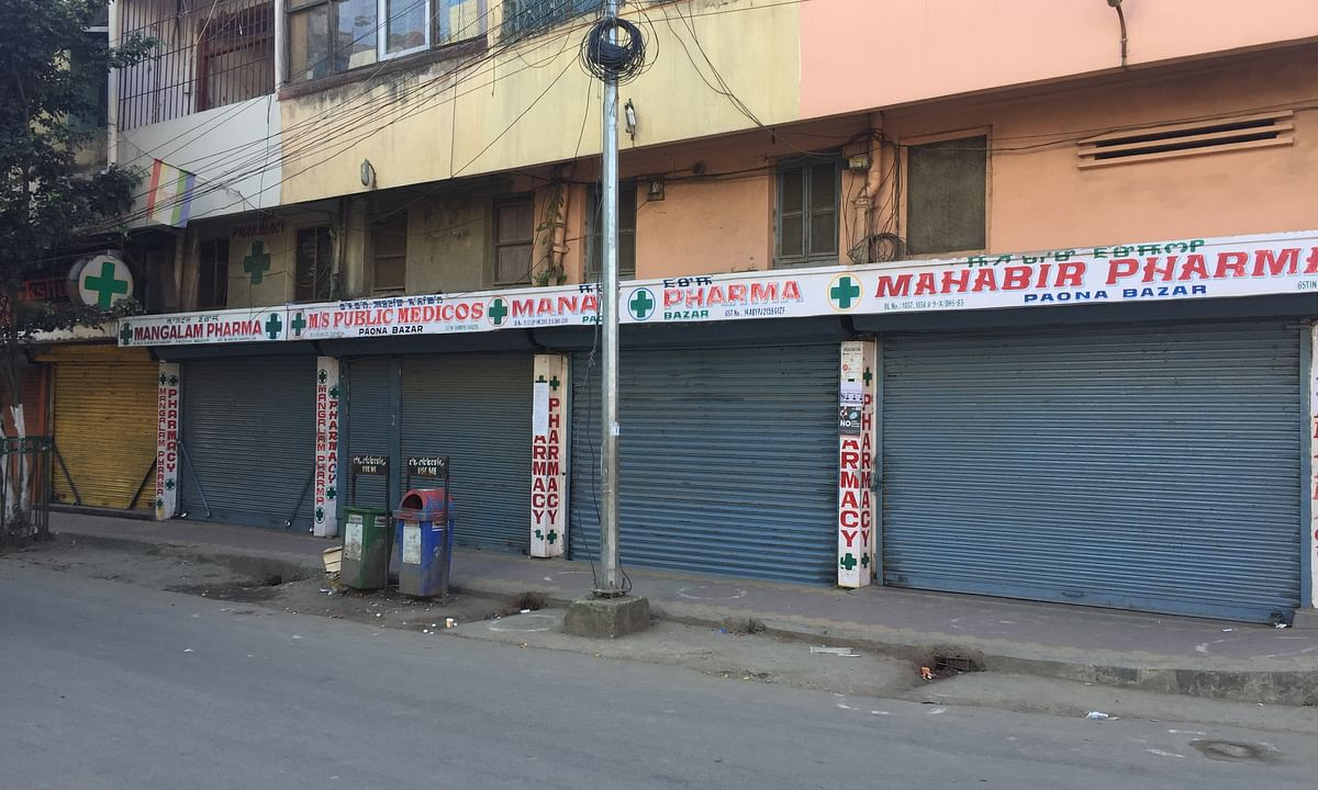 Medical stores at Paona bazaar closed on Thursday