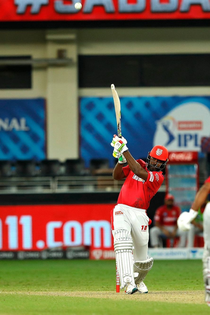 Chris Gayle smashed the first ball of the second Super Over for a six over long on
