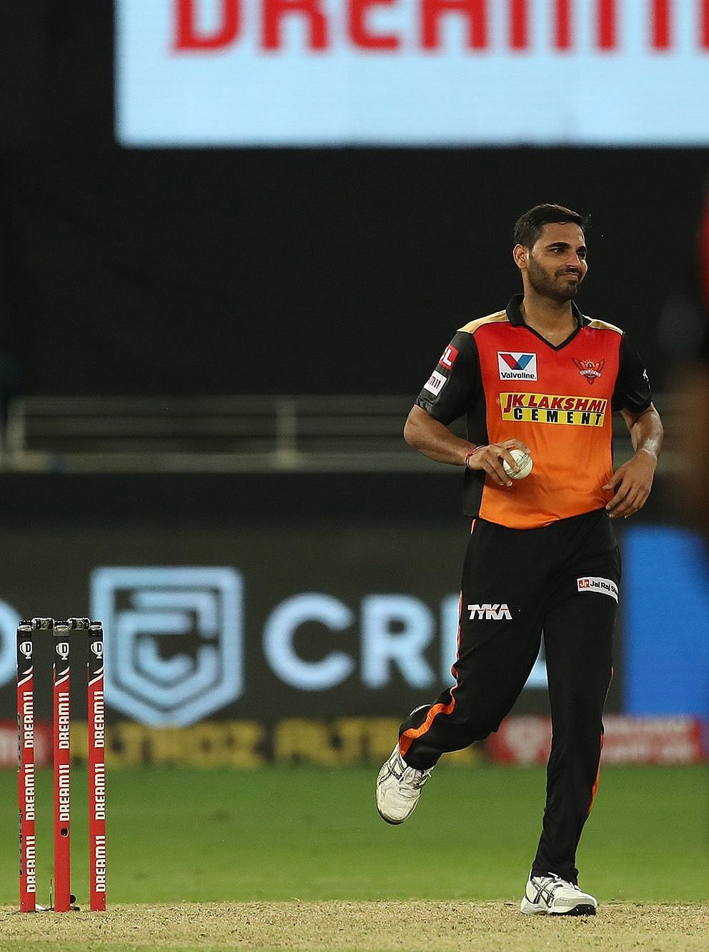 Bhuvneshwar Kumar pulled out of his runnup during the match against Chennai Super Kings