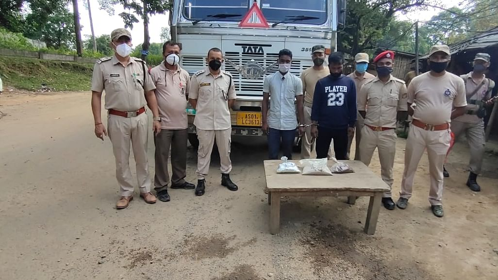 Heroin, brown sugar seized along Nagaland-Assam border; 2 arrested