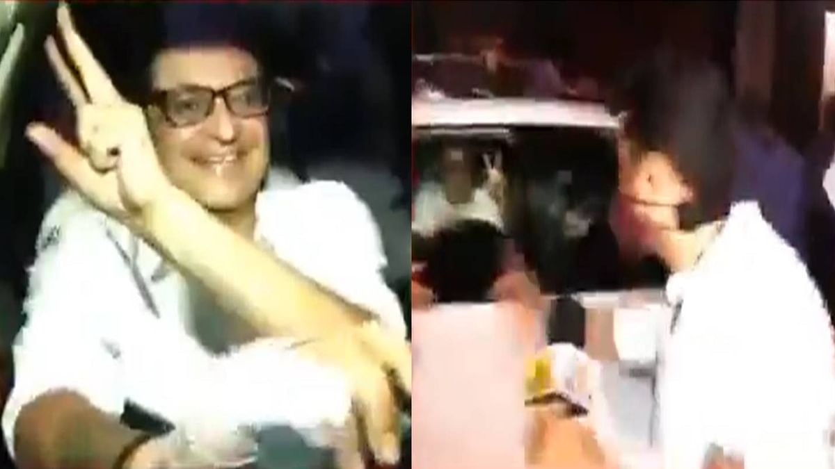 TRP Scam| National media chases Arnab Goswami; TV reporter roughed up