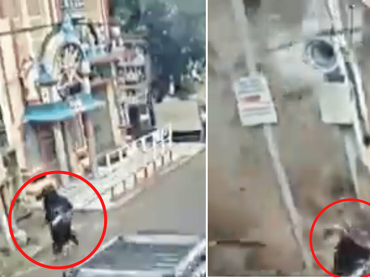 Watch Hyderabad woman's narrow escape from falling structure