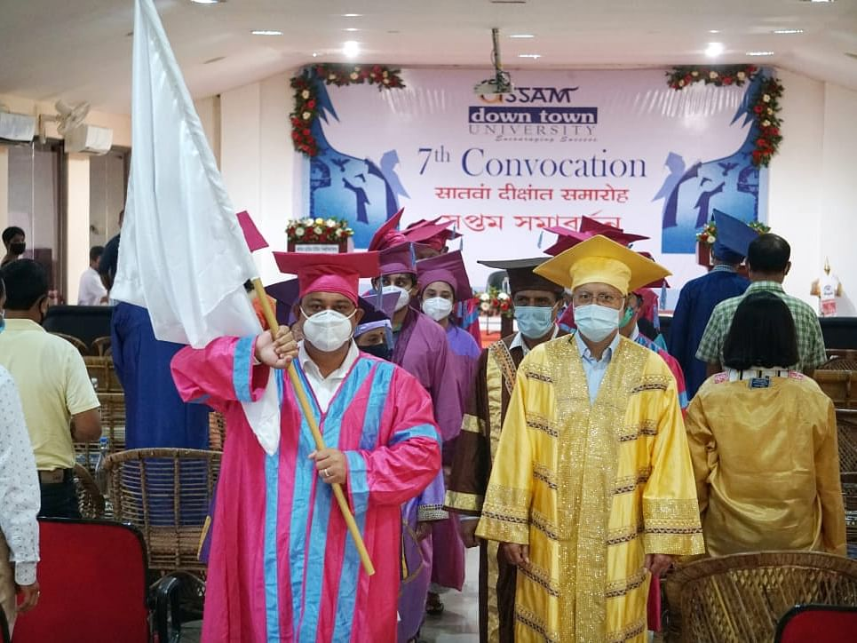 Assam down town University celebrates 7th Convocation Day virtually