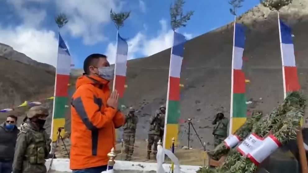 Pema Khandu paid tributes to the four soldiers who made the ultimate sacrifice