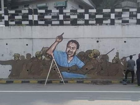 4 painters detained in Guwahati for painting Akhil Gogoi's graffiti