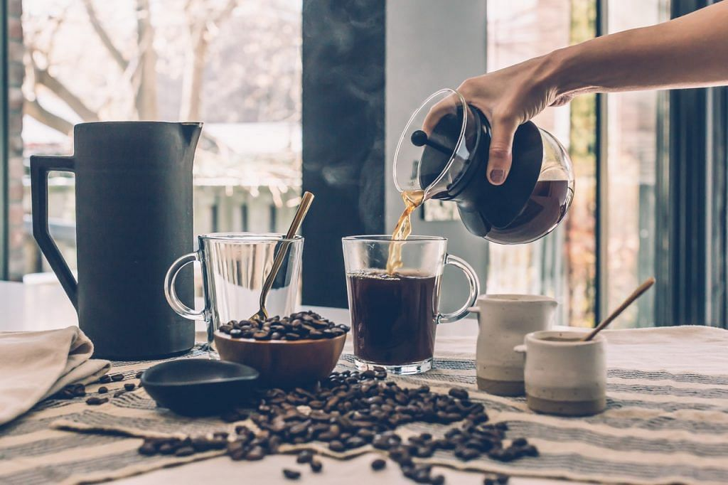 Espresso is the most concentrated form of coffee that is typically brewed in a filter full of finely grounded coffee beans and boiling water