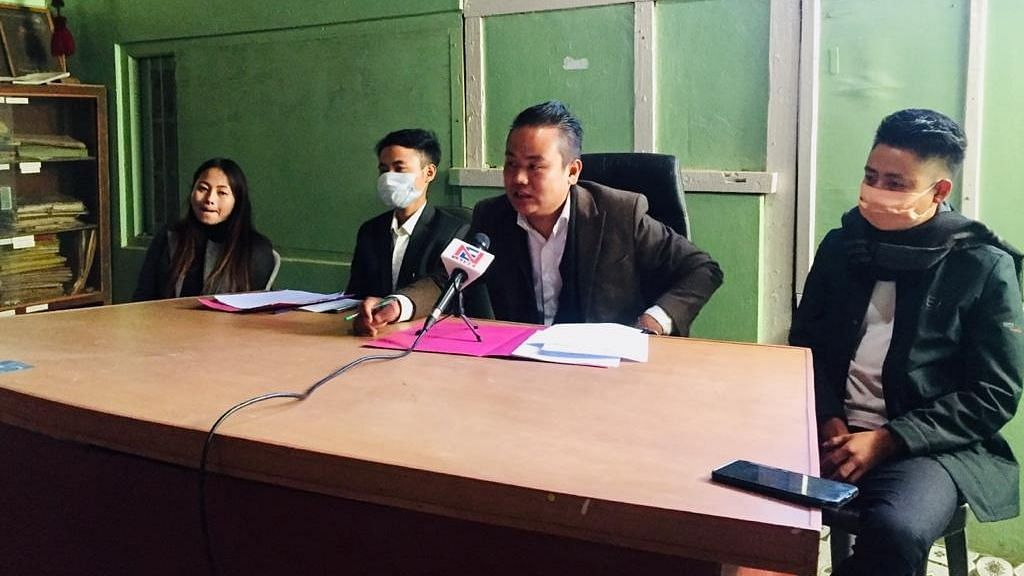 ANCSU vice president Inato Chisho (second from left) and other executives addressing the media on Wednesday