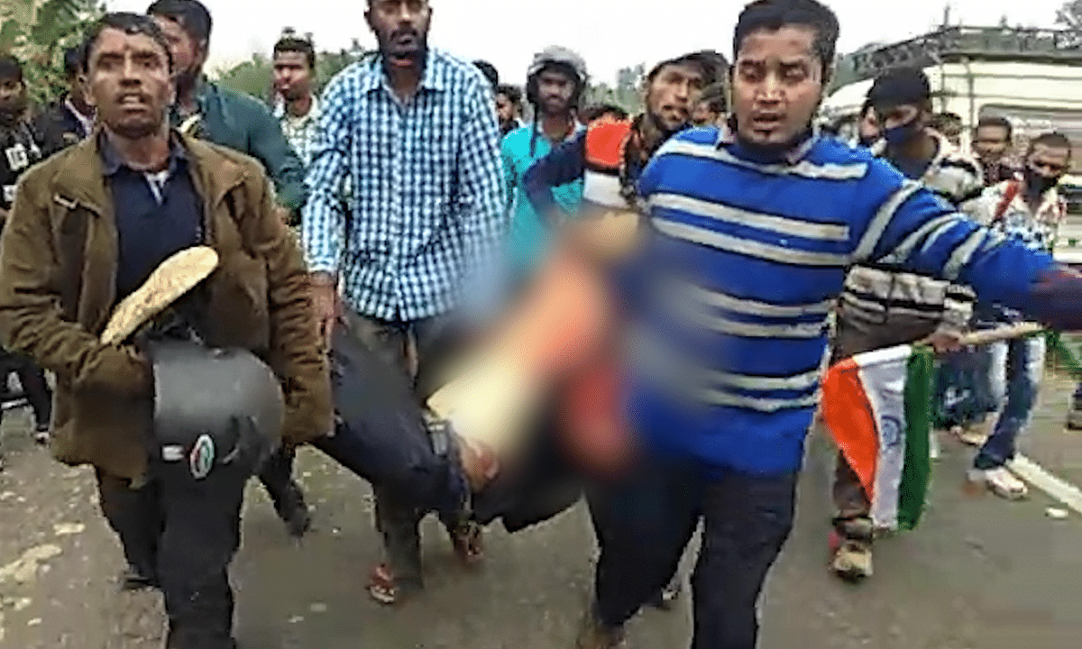 The protesters had blocked the national highway against the resettlement of displaced Bru migrants in Kanchanpur sub-division