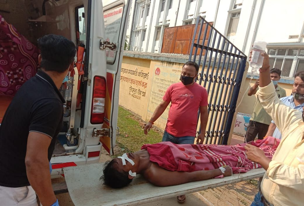 Water Pump Operator Subal Dey being referred to North district hospital